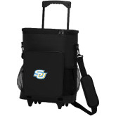 30 Can Black Rolling Cooler Bag-Interlocking SU