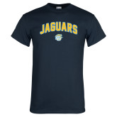 Navy T Shirt-Arched Jaguars