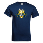 Navy T Shirt-The Human Jukebox Official Mark