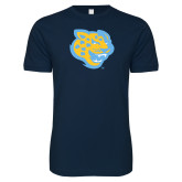 Next Level SoftStyle Navy T Shirt-Jaguar Head