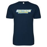 Next Level SoftStyle Navy T Shirt-Southern Jaguars