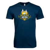 Next Level SoftStyle Navy T Shirt-The Human Jukebox Official Mark