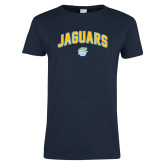 Ladies Navy T Shirt-Arched Jaguars