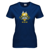 Ladies Navy T Shirt-The Human Jukebox - Mom
