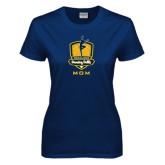 Ladies Navy T Shirt-Fabulous Dancing Dolls - Mom
