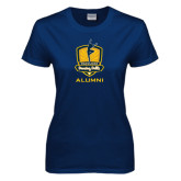 Ladies Navy T Shirt-Fabulous Dancing Dolls - Alumni