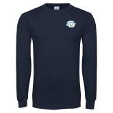 Navy Long Sleeve T Shirt-Interlocking SU