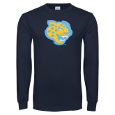 Navy Long Sleeve T Shirt-Jaguar Head