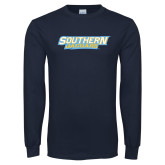 Navy Long Sleeve T Shirt-Southern Jaguars