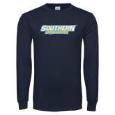 Navy Long Sleeve T Shirt-Southern Jaguars