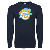 Navy Long Sleeve T Shirt-SU w/ Jaguar