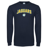 Navy Long Sleeve T Shirt-Arched Jaguars