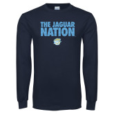 Navy Long Sleeve T Shirt-The Jaguar Nation