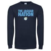 Navy Long Sleeve T Shirt-The Jaguar Nation