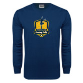 Navy Long Sleeve T Shirt-Fabulous Dancing Dolls Official Mark Distressed