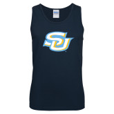Navy Tank Top-Interlocking SU
