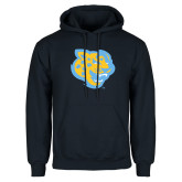 Navy Fleece Hoodie-Jaguar Head