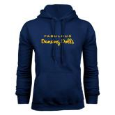 Navy Fleece Hoodie-Fabulous Dancing Dolls Wordmark