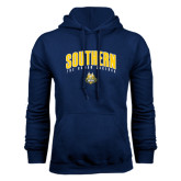 Navy Fleece Hoodie-Arched Southern