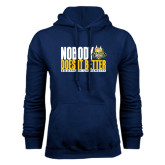 Navy Fleece Hoodie-Nobody Does It Better Stacked