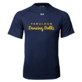 Under Armour Navy Tech Tee-Fabulous Dancing Dolls Wordmark