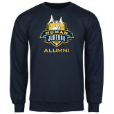 Navy Fleece Crew-The Human Jukebox - Alumni