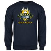 Navy Fleece Crew-The Human Jukebox - Grandpa
