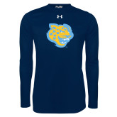 Under Armour Navy Long Sleeve Tech Tee-Jaguar Head