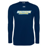 Under Armour Navy Long Sleeve Tech Tee-Southern Jaguars