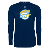 Under Armour Navy Long Sleeve Tech Tee-SU w/ Jaguar