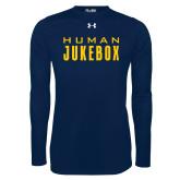 Under Armour Navy Long Sleeve Tech Tee-Human Jukebox Wordmark
