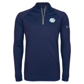 Under Armour Navy Tech 1/4 Zip Performance Shirt-Interlocking SU