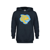 Youth Navy Fleece Hoodie-Jaguar Head