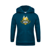 Youth Navy Fleece Hoodie-The Human Jukebox Official Mark