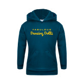Youth Navy Fleece Hoodie-Fabulous Dancing Dolls Wordmark