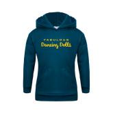 Youth Navy Fleece Hoodie-Fabulous Dancing Dolls Wordmark