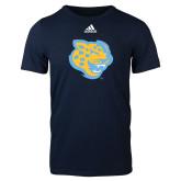 Adidas Navy Logo T Shirt-Jaguar Head