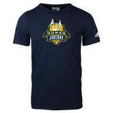 Adidas Navy Logo T Shirt-The Human Jukebox Official Mark