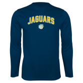 Performance Navy Longsleeve Shirt-Arched Jaguars