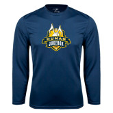 Syntrel Performance Navy Longsleeve Shirt-The Human Jukebox Official Mark