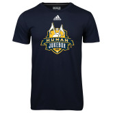 Adidas Climalite Navy Ultimate Performance Tee-The Human Jukebox Official Mark