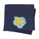Navy Sweatshirt Blanket-Jaguar Head