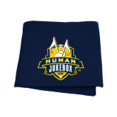 Navy Sweatshirt Blanket-The Human Jukebox Official Mark