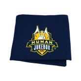 Navy Sweatshirt Blanket-The Human Jukebox Official Mark