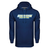 Under Armour Navy Performance Sweats Team Hoodie-Southern Jaguars