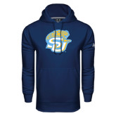 Under Armour Navy Performance Sweats Team Hoodie-SU w/ Jaguar