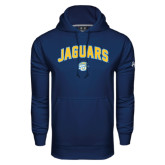 Under Armour Navy Performance Sweats Team Hoodie-Arched Jaguars