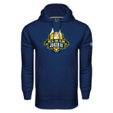 Under Armour Navy Performance Sweats Team Hoodie-The Human Jukebox Official Mark