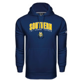 Under Armour Navy Performance Sweats Team Hoodie-Arched Southern