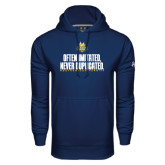 Under Armour Navy Performance Sweats Team Hoodie-Often Imitated, Never Duplicated